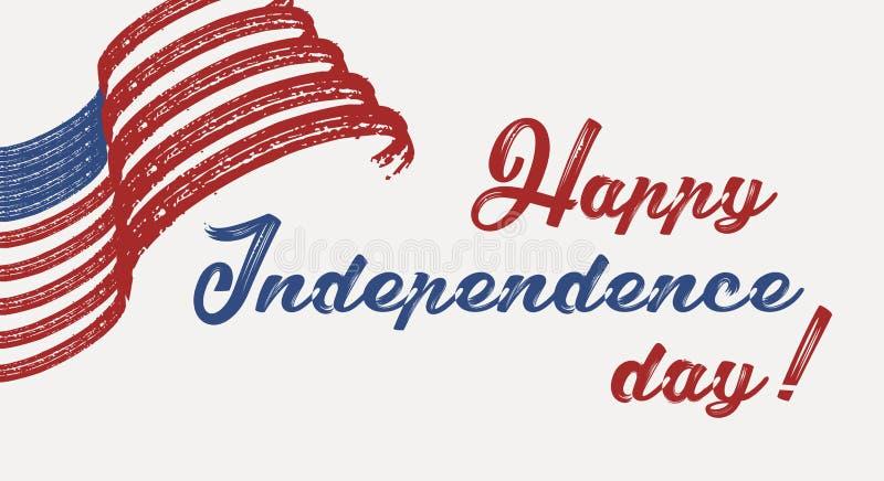 Heureux le 4ème juillet - Jour de la Déclaration d'Indépendance des Etats-Unis d'Amérique illustration stock