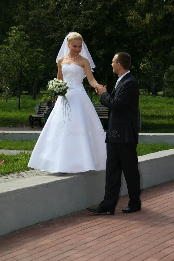 Heureux marié images stock