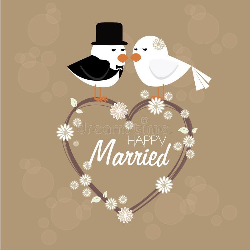 Heureux marié illustration de vecteur