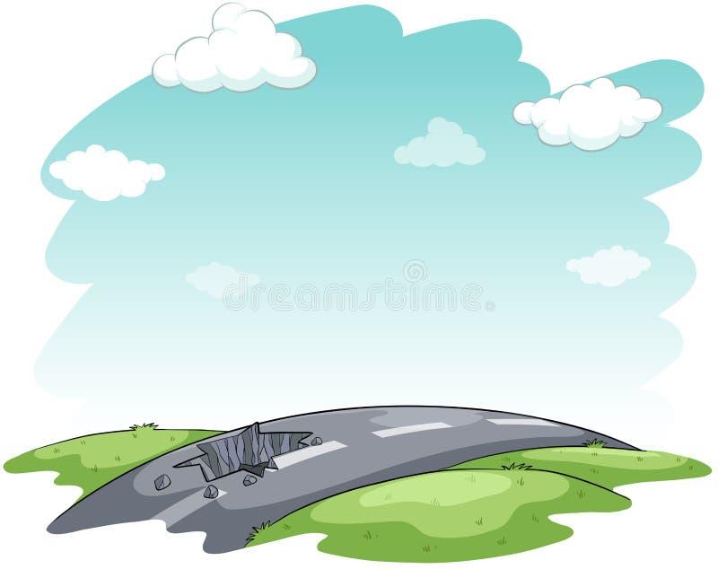 Heurter la route illustration de vecteur