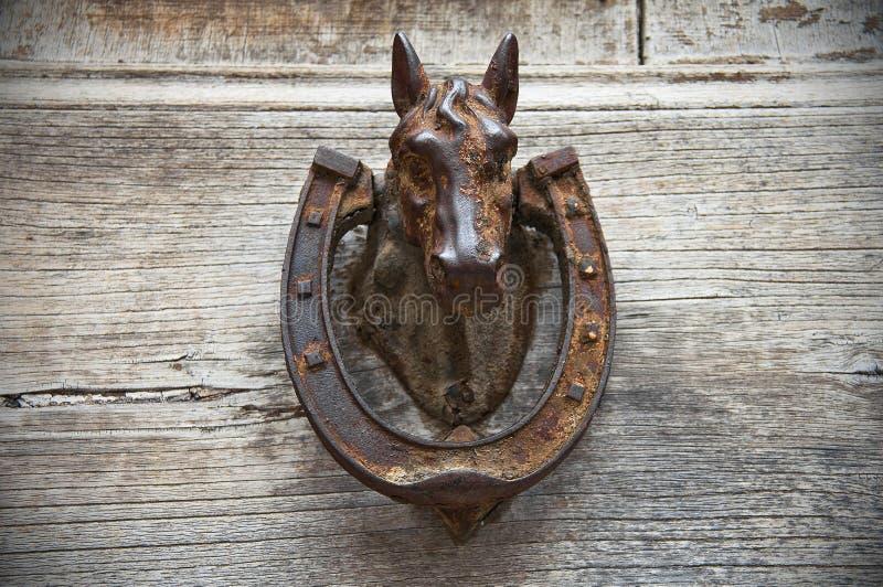 Heurtoir de tête de cheval. photographie stock libre de droits