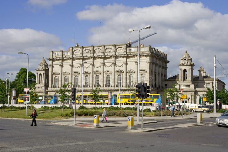Heuston Train Station in Dublin stock image