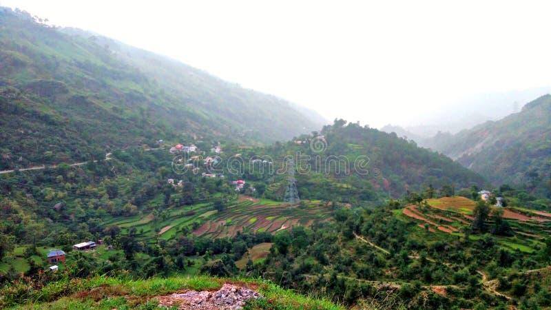 Heuvel en gebieden van heuvels royalty-vrije stock foto
