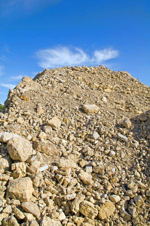 Heuvel van grint stock fotografie