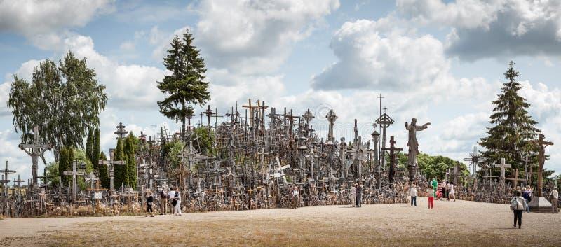 Heuvel van kruisen stock afbeelding