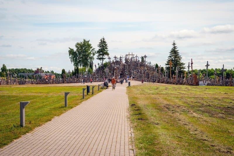 Heuvel van kruisen, Litouwen royalty-vrije stock afbeelding