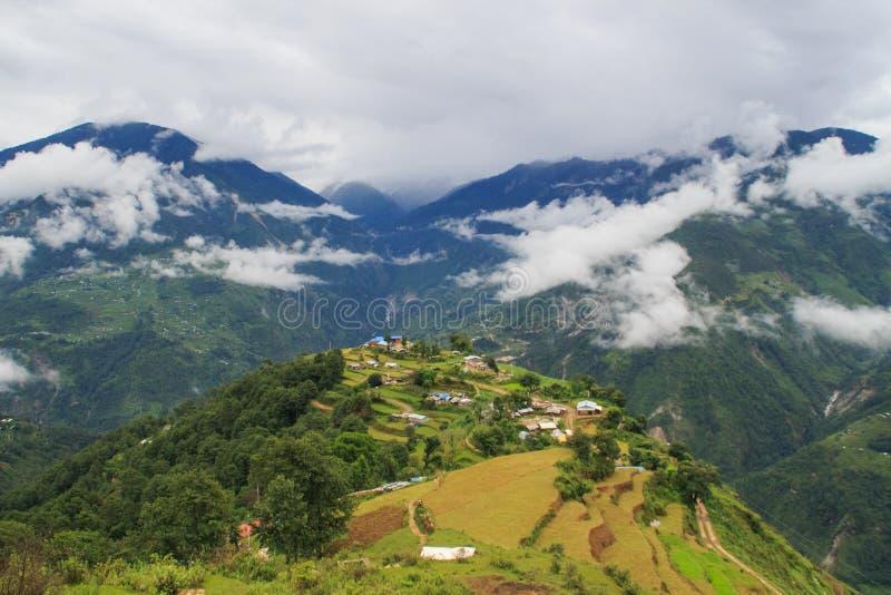 Heuvel zijlandschap royalty-vrije stock foto's