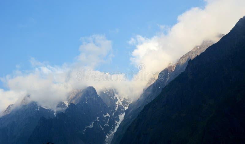 Heuvelpost van gletsjer Uttarakhand in India royalty-vrije stock afbeelding