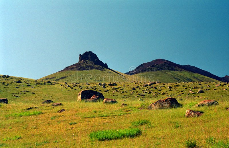 Heuvels stock afbeelding