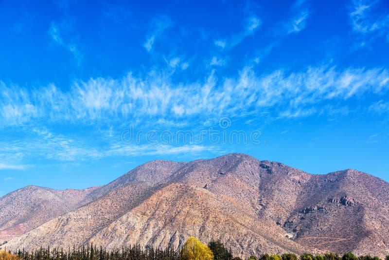 Heuvels in de Elqui-Vallei stock afbeelding