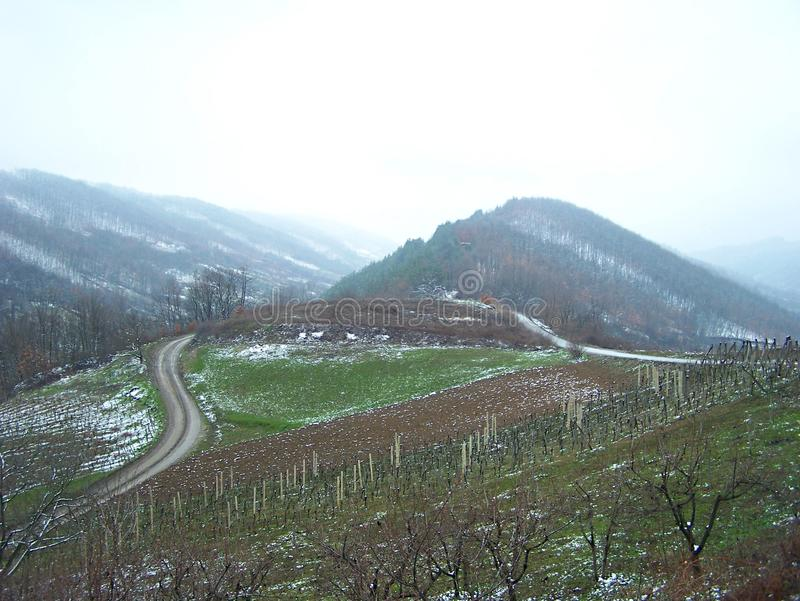 Heuvels in maart royalty-vrije stock afbeelding