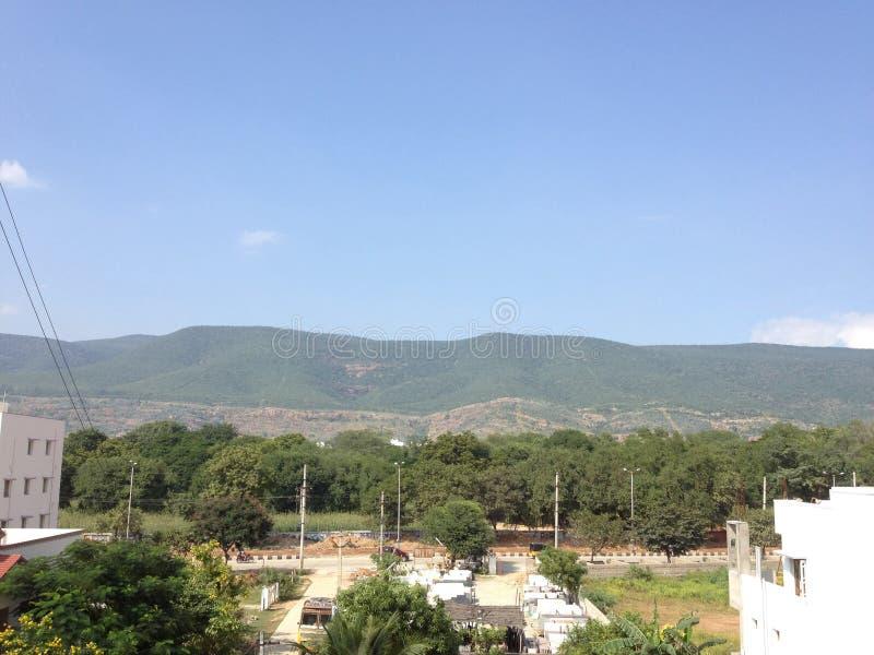 7 heuvels @ Tirupati royalty-vrije stock afbeeldingen