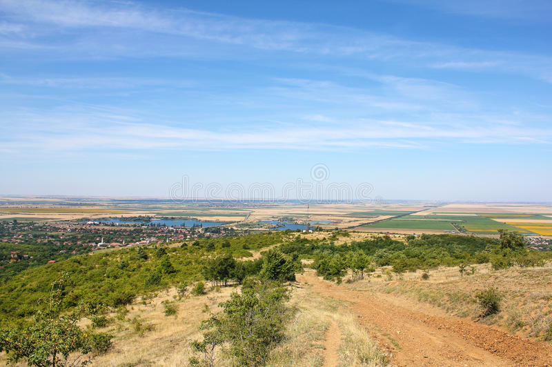 Heuvels van Ghioroc - Arad Romania stock foto