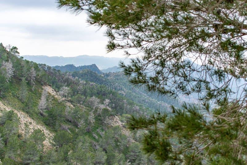 Heuvels van Murcia royalty-vrije stock afbeeldingen
