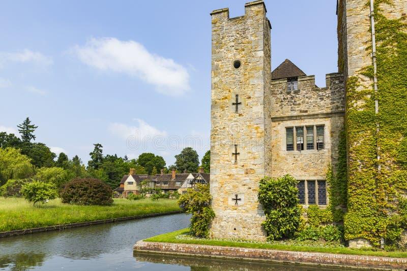 Hever城堡和护城河 库存照片