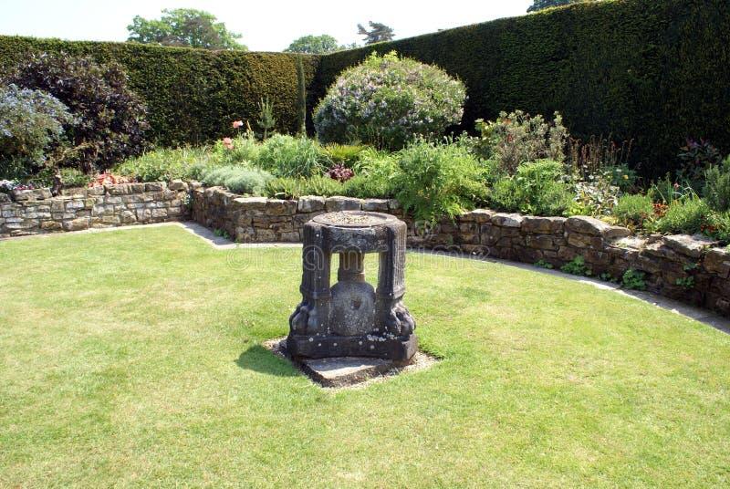 Hever castle garden in England stock photography