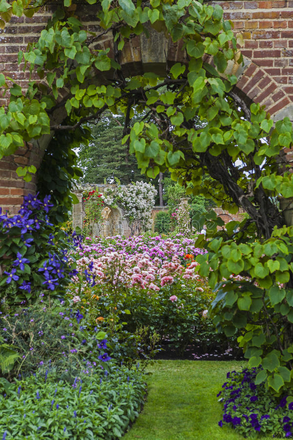 Hever Castle Gardens royalty free stock image