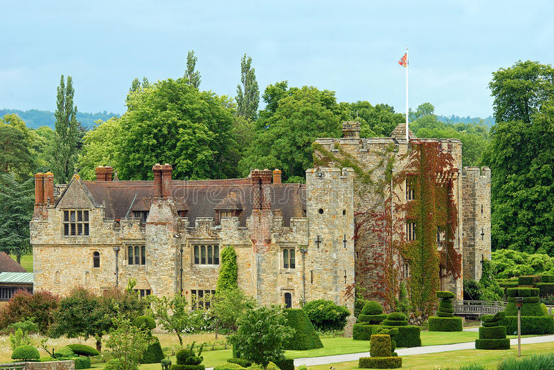 Hever Castle Hever England. On a summer day royalty free stock photos