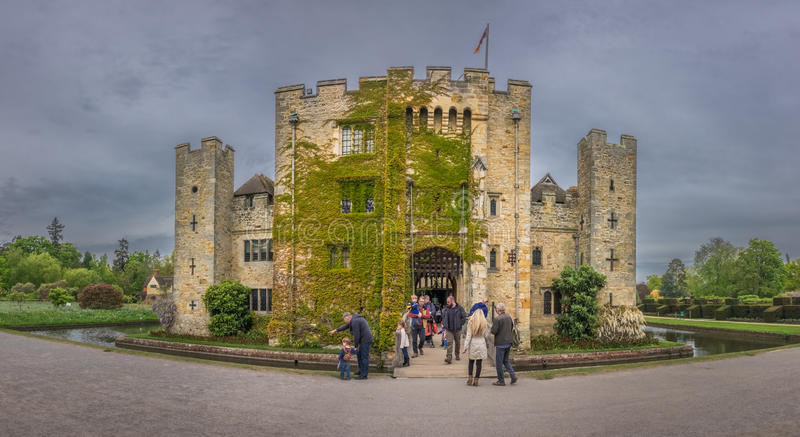 Hever Castle in Kent. Hever Castle, England - April 2017 : Hever Castle located in the village of Hever, Kent, built in the 13th century, historical home of Ann royalty free stock image