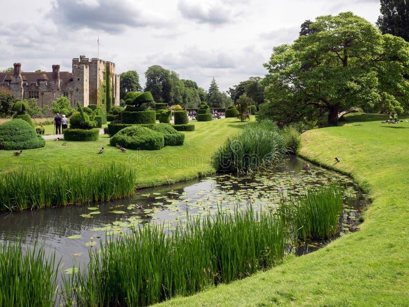 HEVER KENT/UK - JUNI 28: Sikt av den Hever slotten och jordning i H royaltyfri fotografi