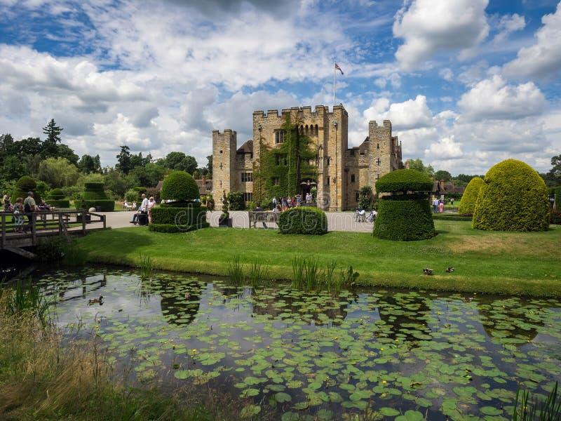 HEVER KENT/UK - JUNI 28: Sikt av den Hever slotten på en Sunny Summe arkivbilder