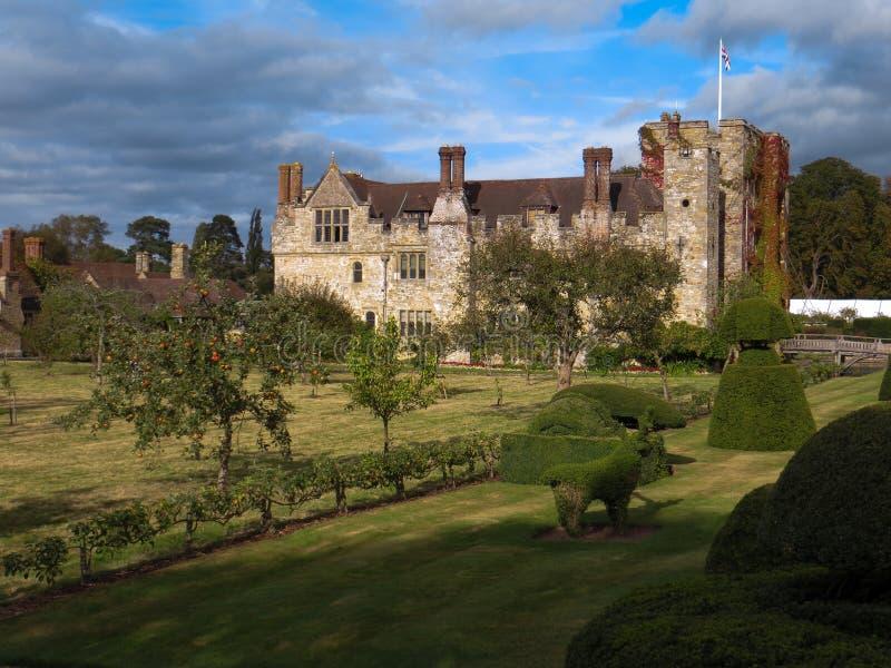 HEVER KENT/UK - SEPTEMBER 16: Sikt av den Hever slotten i Hever Ke royaltyfria foton