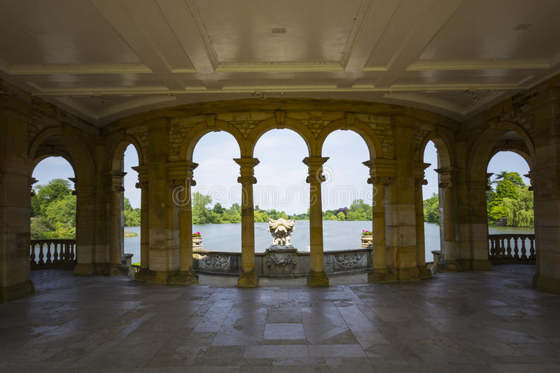 Hever Lake from the Loggia royalty free stock images