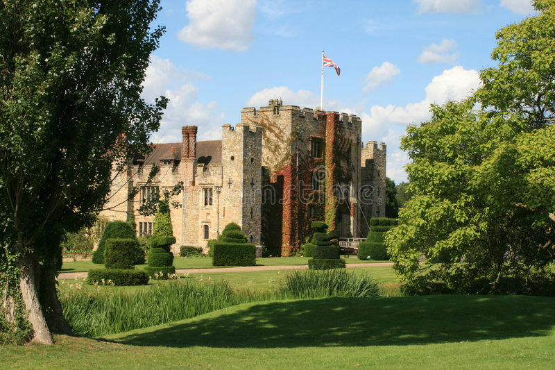 Hever Schloss stockfotos