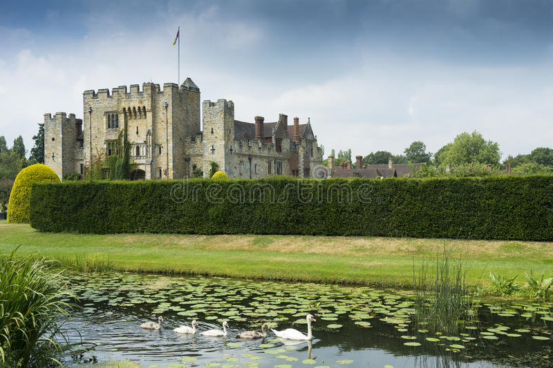 Hever-Schloss stockfotos