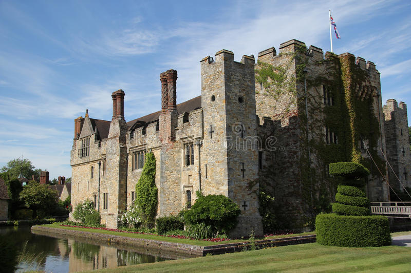 Hever Schloss in Kent stockfotos
