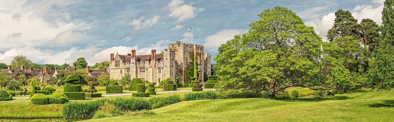 Hever-Schloss in Kent, England stockfotografie