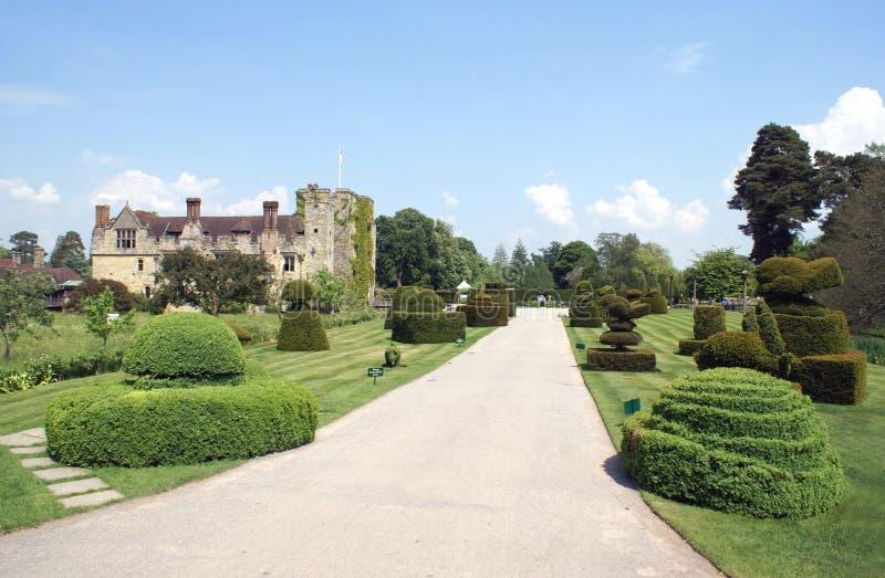 Hever slottträdgård i Hever, Edenbridge, Kent, England, Europa royaltyfria bilder