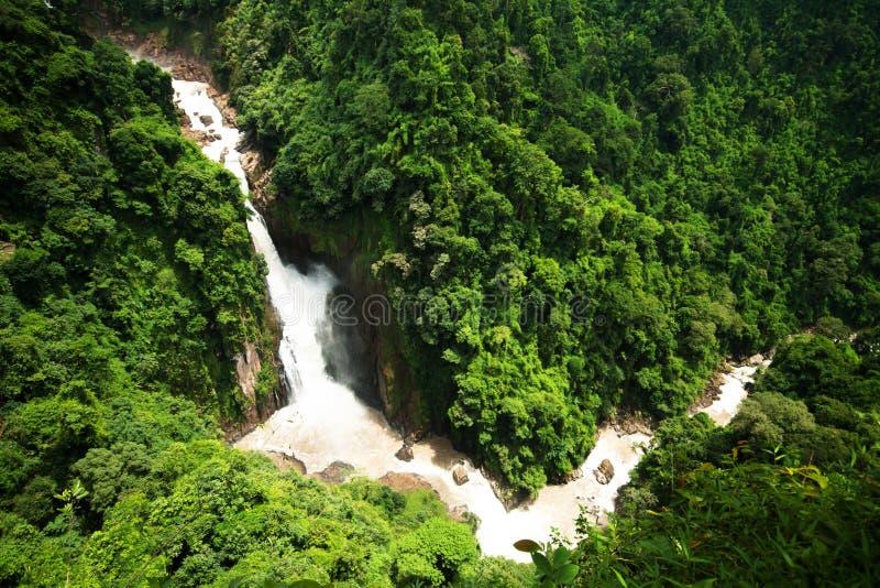 Hew Narok Waterfall. The beautifull dangerous waterfall of Thailand stock photos