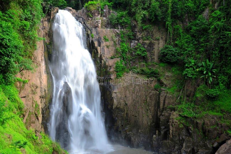 Hew Narok waterfall in Thailand. Hew Narok waterfall : Beautiful waterfall in Thailand at Khaoyai national park royalty free stock image
