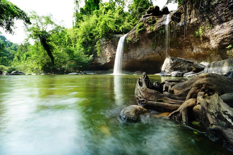 Hew su wat waterfall. In Thailand stock photography