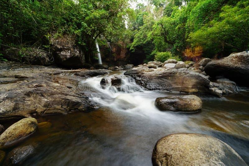 Hew su wat waterfall. In Thailand stock photo