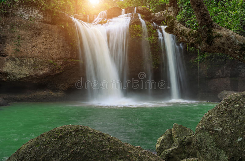 Hew suwat waterfall in khao yai national park thailand. Hew su wat waterfall in khao yai national park thailand royalty free stock photos