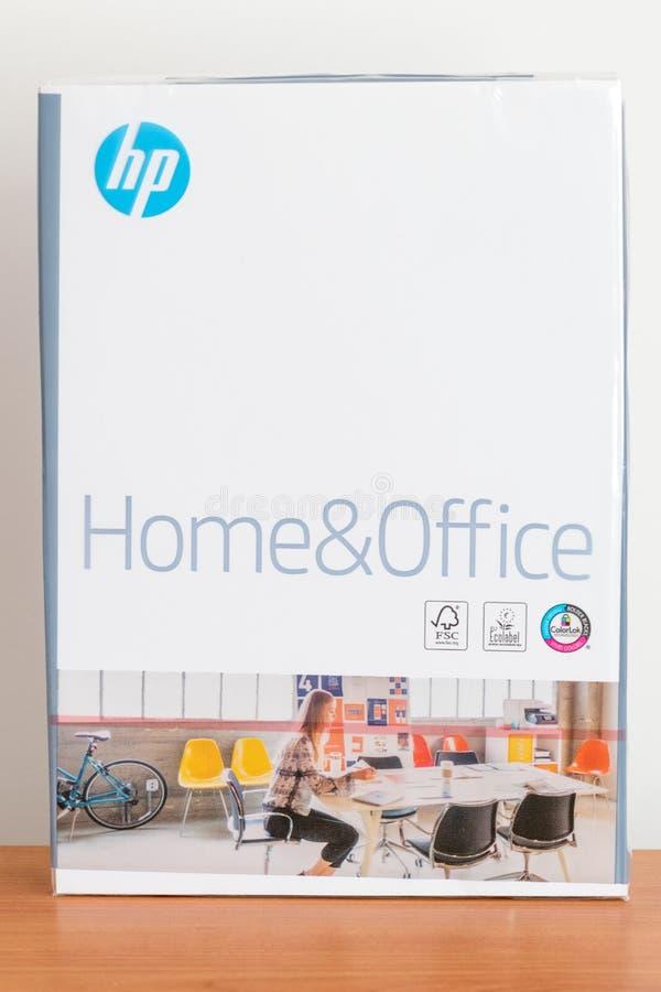 Hewlett-Packard-Huis en Bureaudocument Riem van HP-document royalty-vrije stock afbeeldingen