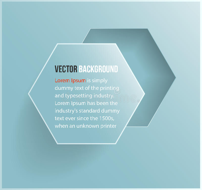 Hexágono abstrato do fundo do vetor. Web e projeto ilustração stock
