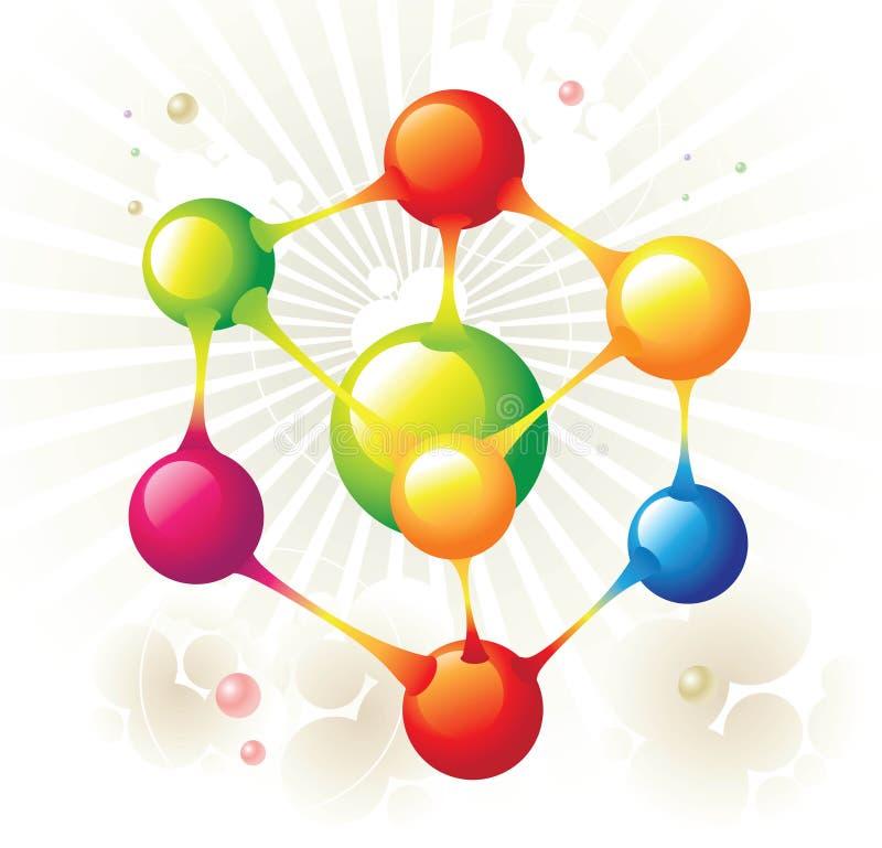 Hexágono de la molécula libre illustration