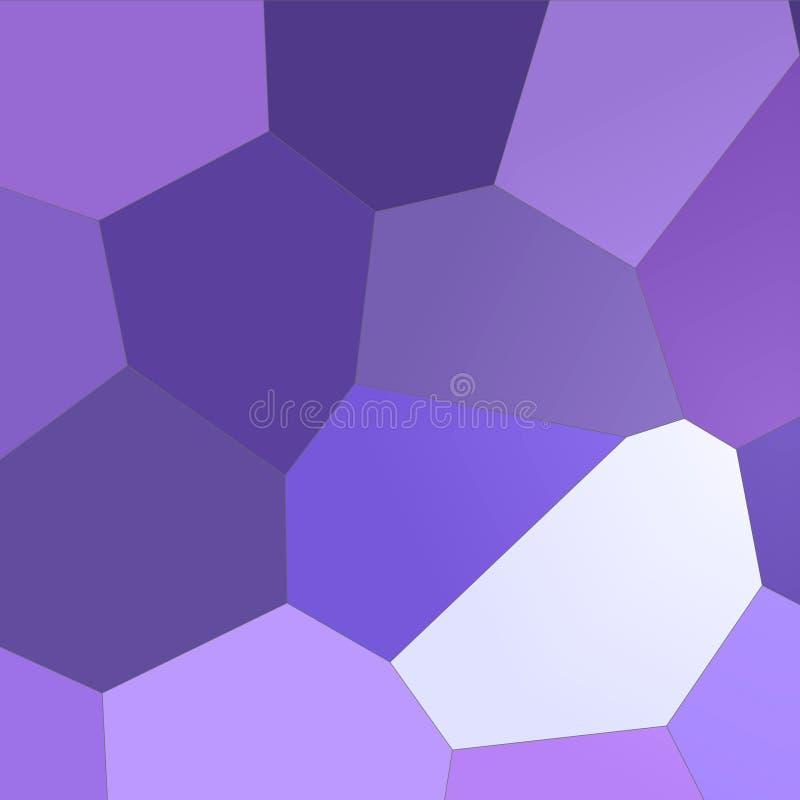 Hexágono gigante azul marino y púrpura en el ejemplo cuadrado del fondo de la forma libre illustration
