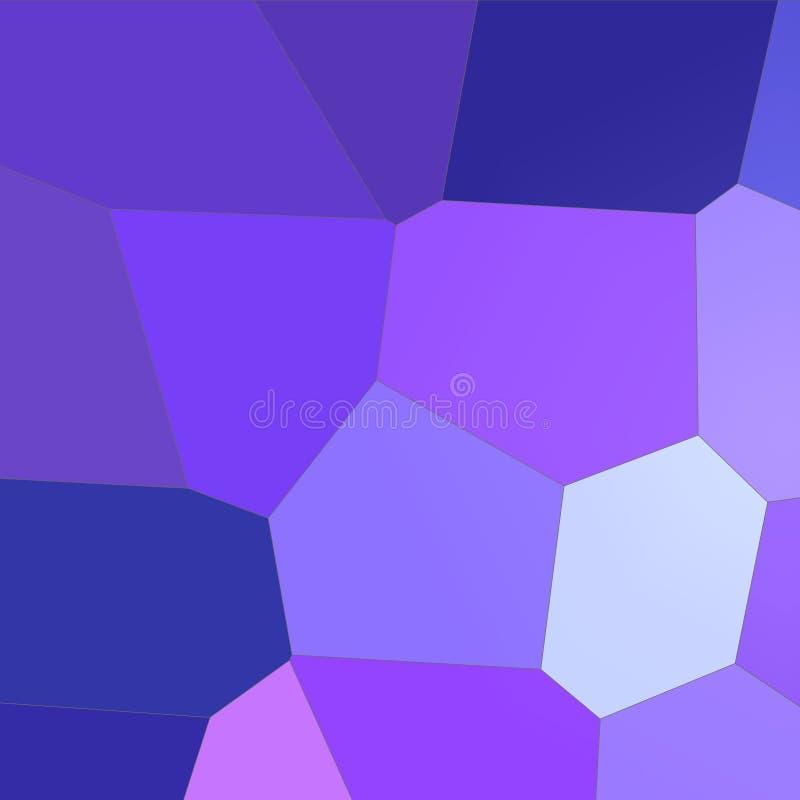 Hexágono gigante brillante azul marino y púrpura en el ejemplo cuadrado del fondo de la forma ilustración del vector