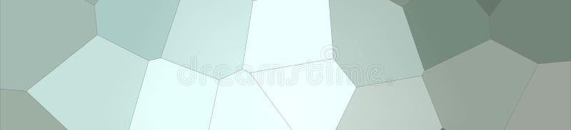 Hexágono gigante pastel de Brown, cinzento e verde na ilustração do fundo da forma da bandeira ilustração stock