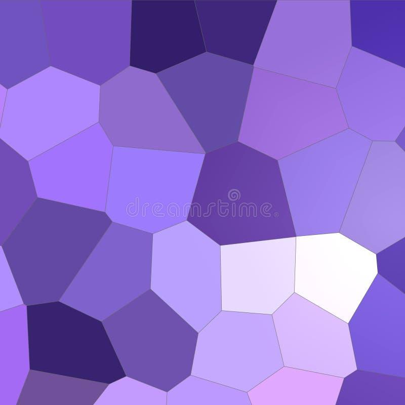 Hexágono grande colorido azul marino y púrpura en el ejemplo cuadrado del fondo de la forma ilustración del vector