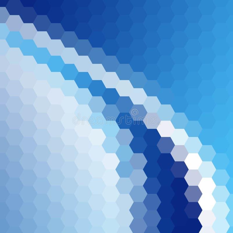 Hexágonos abstratos azuis Disposi??o para anunciar Eps 10 ilustração stock