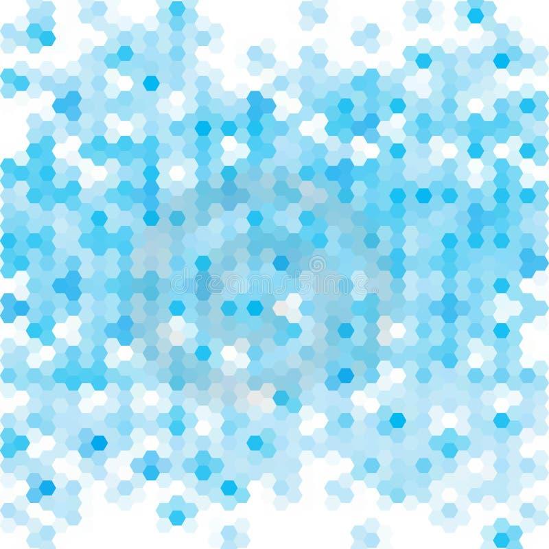 Hexágonos abstratos azuis Disposi??o para anunciar Molde moderno da apresenta??o Eps 10 ilustração royalty free