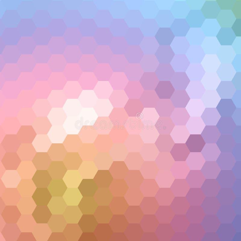 Hexágonos abstratos coloridos Disposi??o para anunciar Molde moderno da apresenta??o Eps 10 ilustração royalty free