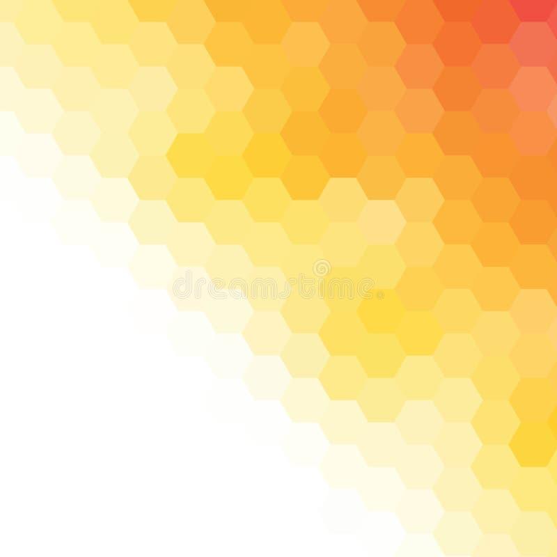 Hexágonos amarelos do vetor abstraia o fundo Disposi??o para anunciar Eps 10 ilustração do vetor