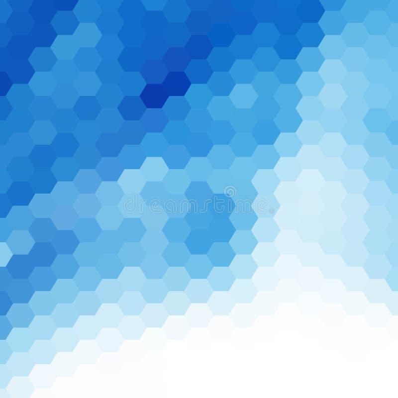Hexágonos azuis do vetor abstraia o fundo Disposi??o para anunciar Eps 10 ilustração do vetor