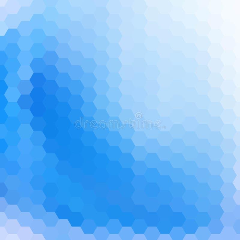 Hexágonos azuis do vetor abstraia o fundo Disposi??o para anunciar Eps 10 ilustração stock